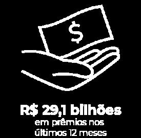 R$ 29,1 bilhões em prêmios nos últimos 12 meses